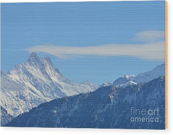 The Alps In Azure Wood Print