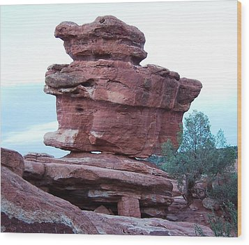 Wood Print featuring the photograph The Amazing Balanced Rock by Sheila Byers