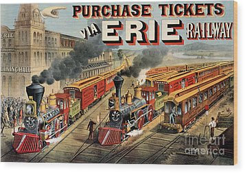 The American Railway Scene  Wood Print by Currier and Ives