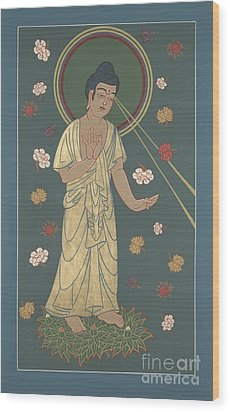The Amitabha Buddha Descending 247 Wood Print by William Hart McNichols
