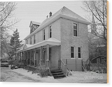 the ananda arthouse in the former st josephs rectory in Forget Saskatchewan Canada Wood Print by Joe Fox