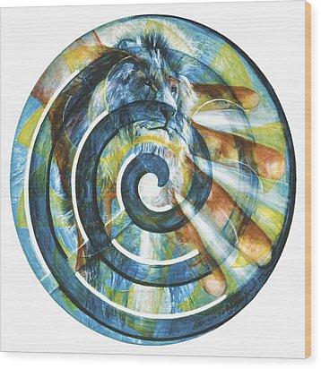 The Angel Michael Wood Print by Yael Avi-Yonah