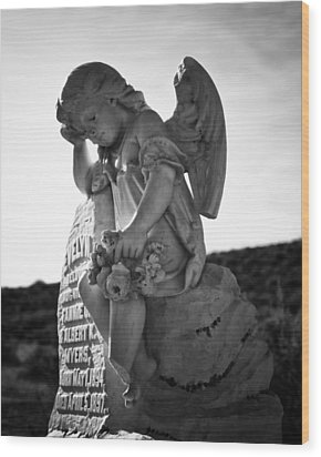 The Angel Of Bodie Wood Print by Troy Montemayor