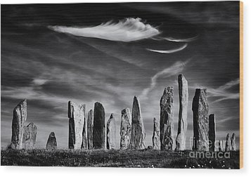 The Angel Of Callanish  Wood Print by Tim Gainey