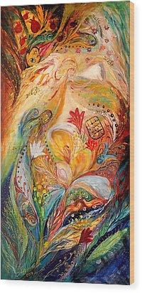 The Angels On Wedding Triptych - Left Side Wood Print by Elena Kotliarker