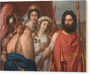 The Anger Of Achilles Wood Print by Jacques-Louis David