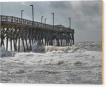 The Angry Sea Wood Print by Kathy Baccari