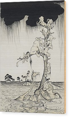 The Animals You Know Are Not As They Are Now Wood Print by Arthur Rackham