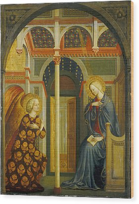 The Annunciation Wood Print by Tommaso Masolino da Panicale