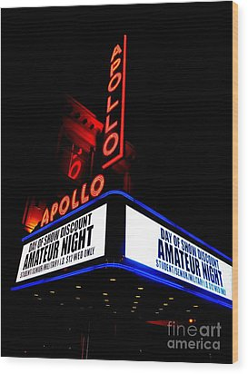 The Apollo Theater Wood Print by Ed Weidman
