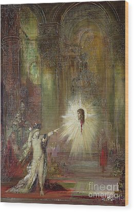 The Apparition Wood Print by Gustave Moreau