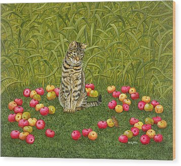 The Apple Mouse Wood Print by Ditz