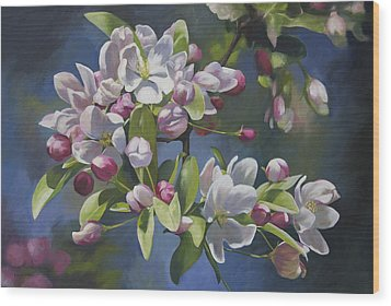 Wood Print featuring the painting The Apple Tree by Alecia Underhill