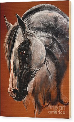The Arabian Horse Wood Print by Angel  Tarantella