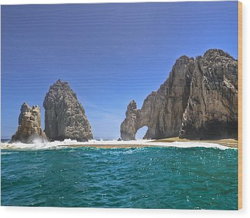 Wood Print featuring the photograph The Arch  Cabo San Lucas On A Low Tide by Eti Reid
