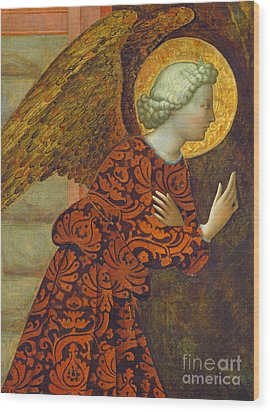 The Archangel Gabriel Wood Print by Tommaso Masolino da Panicale
