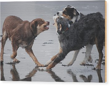 The Argument Wood Print by Richard Hinger