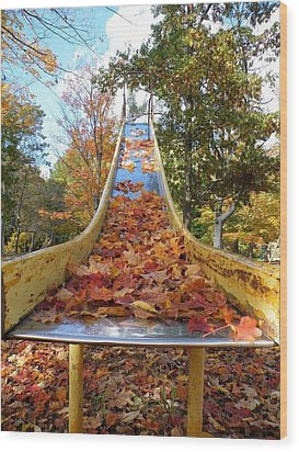 The Arrival Of Fall Wood Print