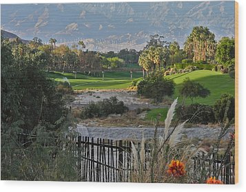 The Arroyo In Rancho Mirage Wood Print by Kirsten Giving