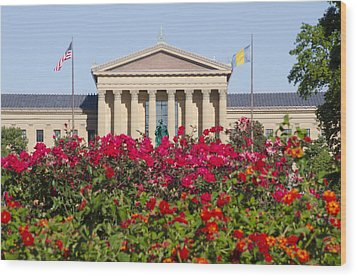 The Art Museum In Summer Wood Print by Bill Cannon