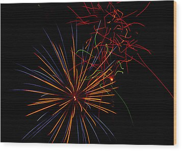 The Art Of Fireworks  Wood Print by Saija  Lehtonen