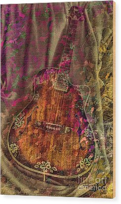 The Art Of Music Wood Print by Steven Lebron Langston