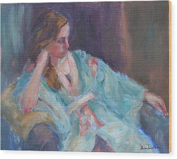 Inner Light - Original Impressionist Painting Wood Print by Quin Sweetman