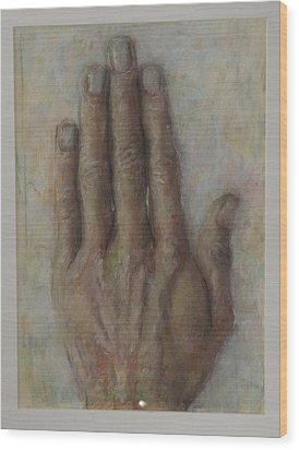The Artist Hand Wood Print by Paez  Antonio