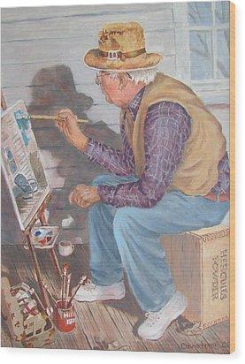 The Artist Wood Print