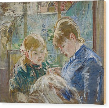 The Artists Daughter Wood Print by Berthe Morisot