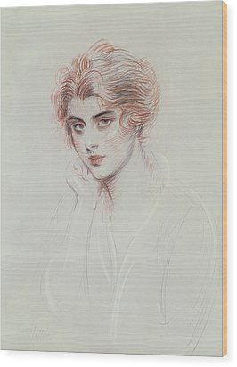 The Artists Daughter Wood Print by Paul Cesar Helleu