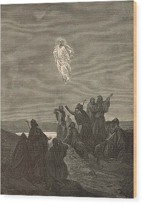 The Ascension Wood Print by Antique Engravings
