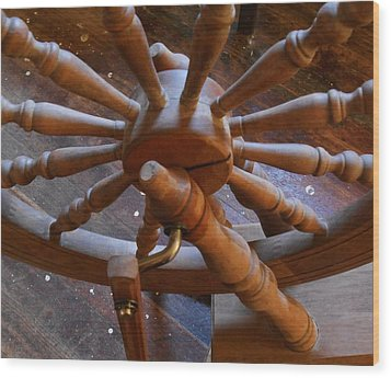 The Ashford Wheel Wood Print by Aliceann Carlton