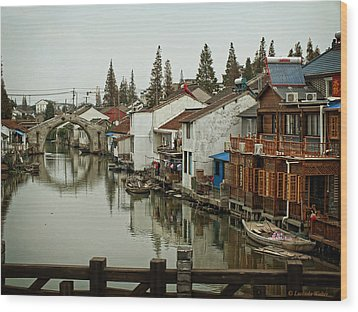 The Asian Venice  Wood Print by Lucinda Walter