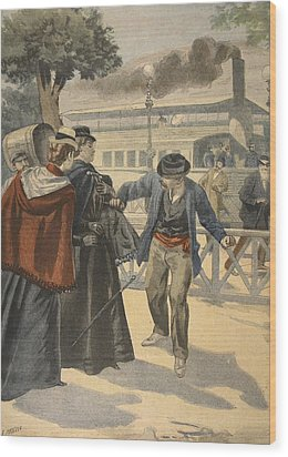 The Assassination Of The Empress Wood Print by French School