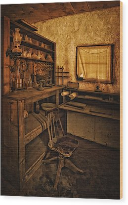 The Assay Office Wood Print by Priscilla Burgers