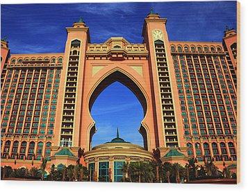 The Atlantis Wood Print by Farah Faizal