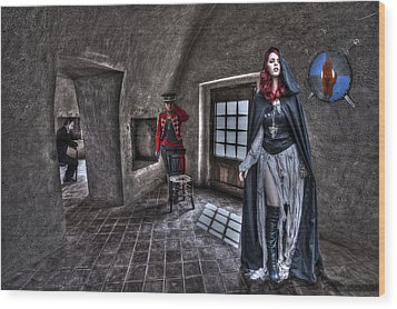 The Audition. Wood Print by Roy Burns