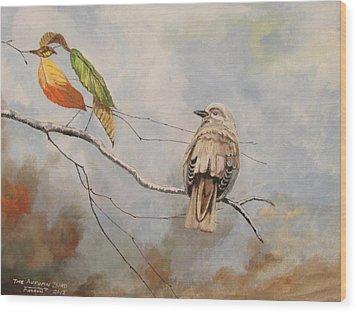 The Autumn Bird Wood Print