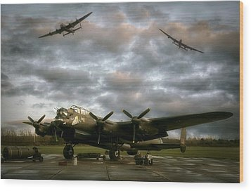 The Avro Lancaster Trio Wood Print