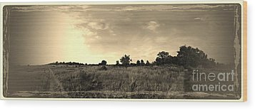 The Back Pasture Wood Print by Garren Zanker
