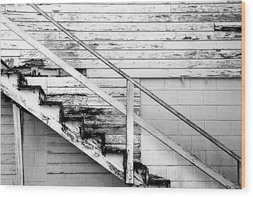 The Back Stairs Wood Print by Beverly Stapleton