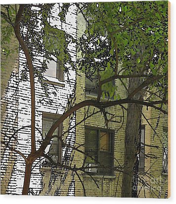 The Back Wall Wood Print by Sarah Loft