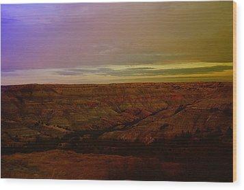 The Badlands Wood Print by Jeff Swan