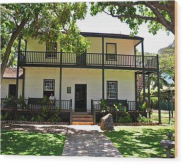 The Baldwin House In Lahaina I Wood Print by Kirsten Giving