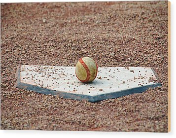 The Ball Of Field Of Dreams Wood Print
