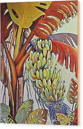The Banana Tree Wood Print by JAXINE Cummins