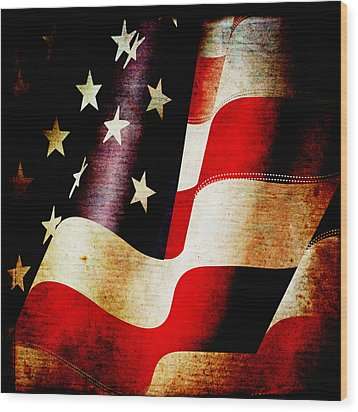 The Banner Yet Waves Wood Print by Angelina Vick