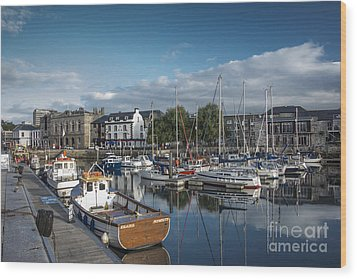 The Barbican Plymouth Devon Wood Print by Donald Davis