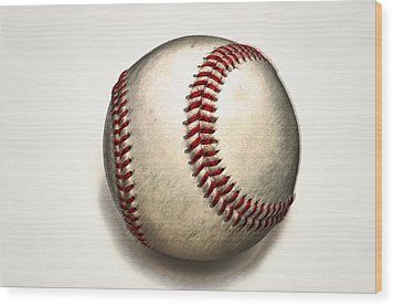 The Baseball Wood Print by Bill Cannon
